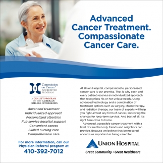 Advanced Cancer Treatment. Compassionate Cancer Care