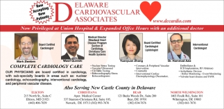 New Priviledge at Union Hospital, Delaware Cardiovascular Associates
