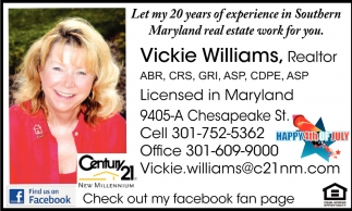 Ley my 20 Years of Experience in Southern Maryland Real Estate Work for You