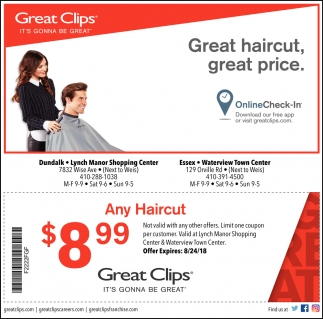 Great Haircut Great Price Great Clips Denton Md