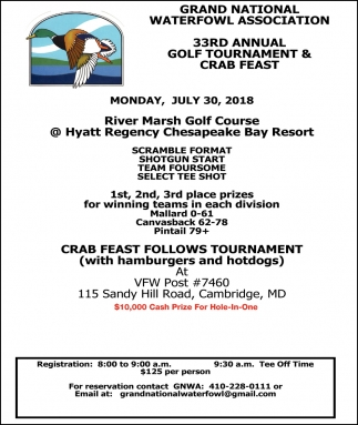 32nd Annual Golf Tournament And Crab Feast