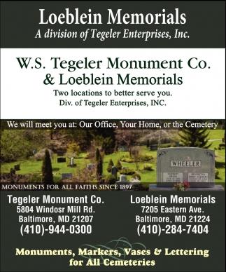 A Division Of Tegeler Enterprises