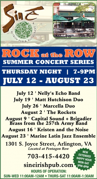 Rock at the Row Summer Concert Series