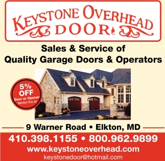 Sales Service Of Quality Garage Doors Operators Keystone