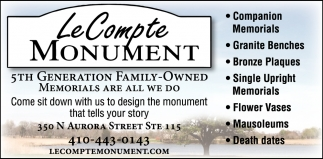 5th Generation Family-Owned Memorials are All we Do