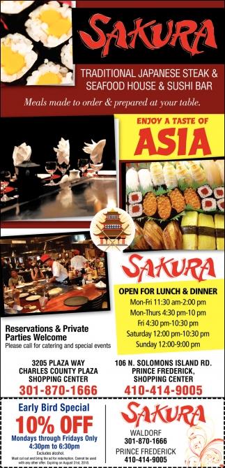 Traditional Japanese Steak & Seafood House & Sushi Bar