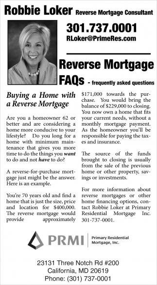 Reverse Mortgage Consultant