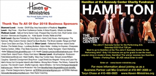 Hamilton at the Kennedy Center Charity Fundraiser