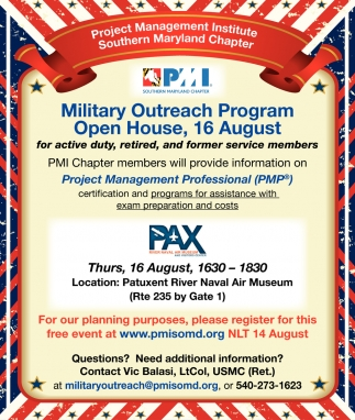Open House 16 August Military Outreach Program Project