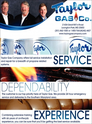 Taylor Gas Company Offers Full Service