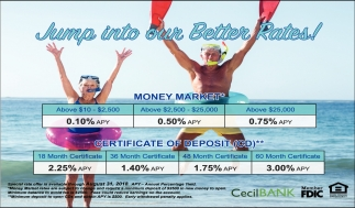 Jump Into our Better Rates!