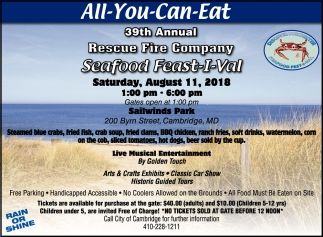 All-You-Can-Eat, Recue Fire Company Seafood Feast-I-Val