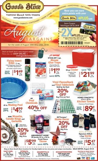 August Bargains