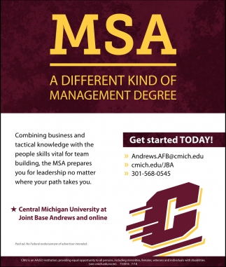 MSA a Different Kind of Management Degree