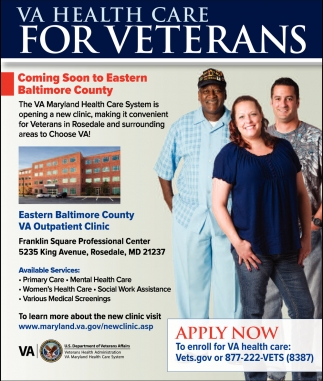 VA Health Care for Veterans, Eastern Baltimore County VA