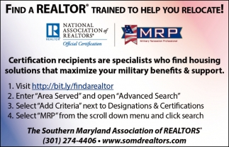 Find A Realtor Southern Maryland Association Of Realtors