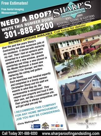 Need a Roof?