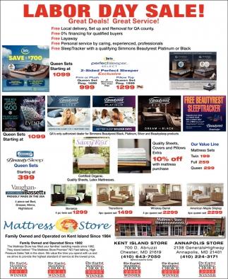 Labor Day Sale Mattress Store Chester Md