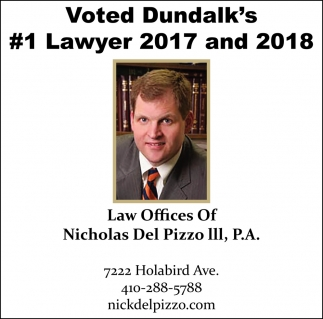 Voted Dundalk's #1 Lawyer 2017 and 2018