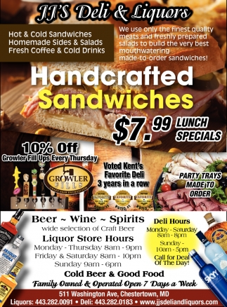 Handcrafted Sandwiches