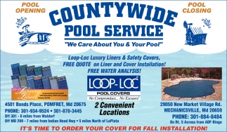 We Care About You & Your Pool