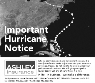 Important Hurricane Notice