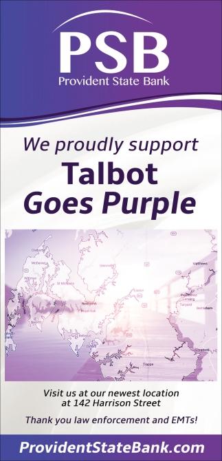 Talbot Goes Purple