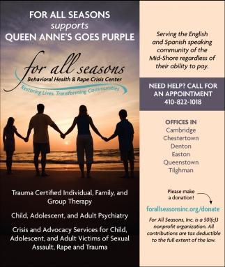 Quenn Anne's Goes Purple