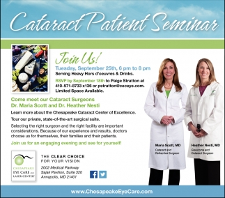Cataract Patient Seminar