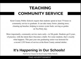 Teaching Community Service