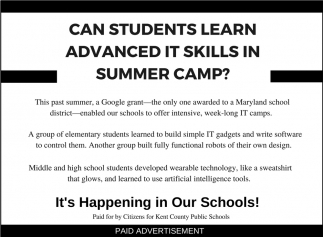 Can Students Learn Advanced IT Skills in Summer Camp?