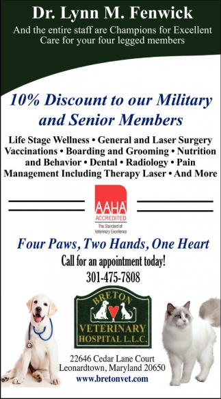 10% Discount To Out Military And Senior Members