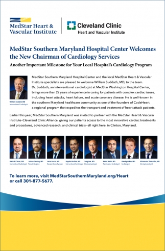 New Chairman of Cardiology Services