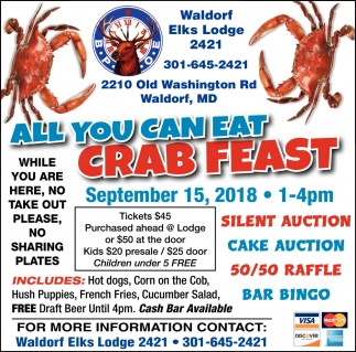 All You Can Eat Crab Feast
