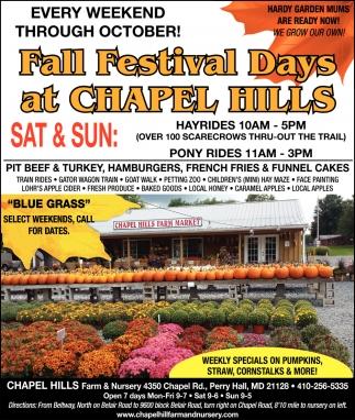 Fall Festival Days