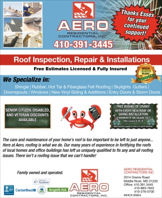 Roof Inspection, Repair & Installations