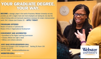 Your Graduate Degree. Your Way