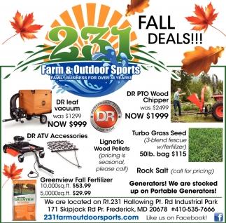 Fall Deals!!!