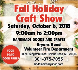 Fall Holiday Craft Show