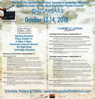 The 2018 Chesapeake Film Festival Expands in Cambridge