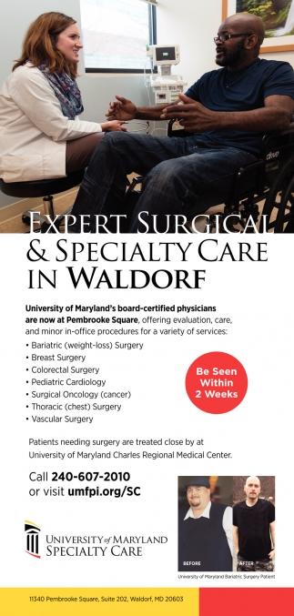 Expert Surgical & Specialty Care in Waldorf