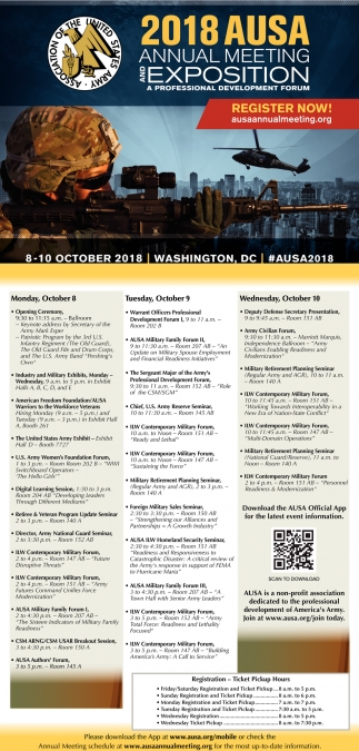 2018 Ausa Annual Meeting and Exposition