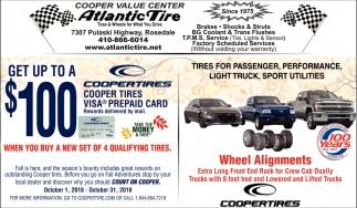 Get up to a $100 Coopertires