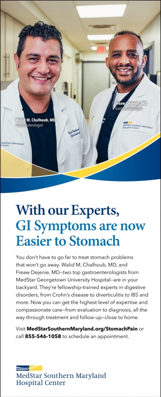 With Our Experts, GI Symptoms are Now Easier to Stomach