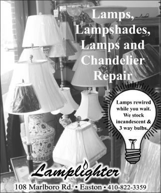 Lamps Rewired while you Wait