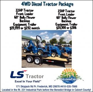 4wd Diesel Tractor Package