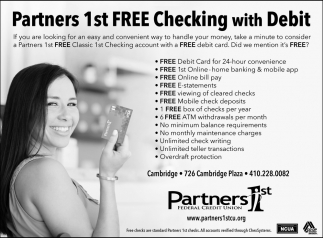Partners 1st Free Checking with Debit, Partners 1st Federal