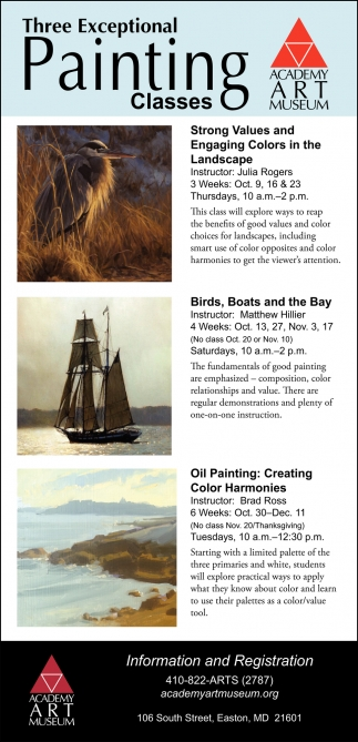Three Exceptional Painting Classes
