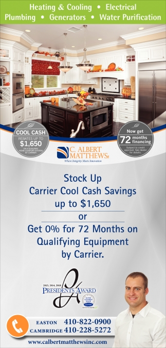 Stock Up Carrier Cool Cash Savings