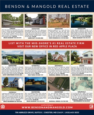 List with the Mid Shore's #1 Real Estate Firm